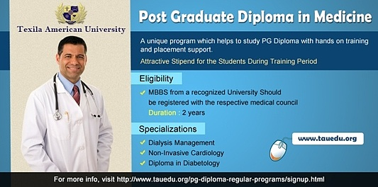 post graduate diploma in Medicine