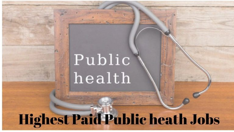 public health high paid jobs