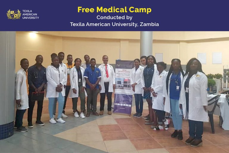 Texila Zambia Medical Students camp