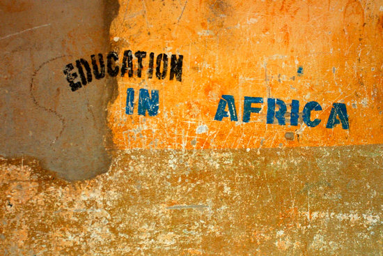 Education in Africa sign