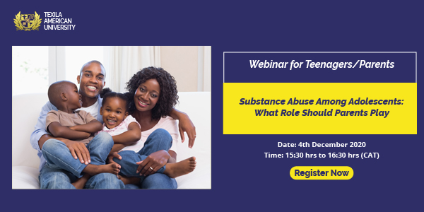Free webinar on Substance Abuse Among Adolescents
