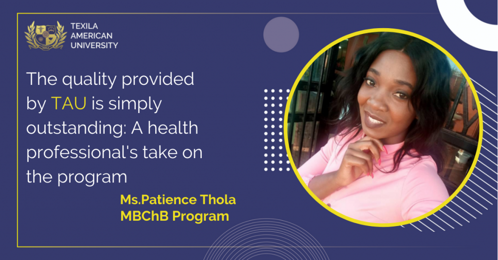 Patience Thola MBChB in Texila